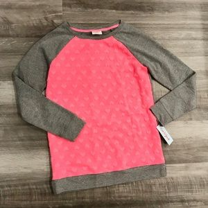 Cat & Jack Shirts & Tops - Valentine's Little Girls Heart Pullover Sweater